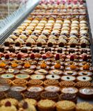 File e file delle pasticcerie del dessert immagini stock