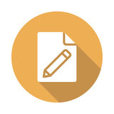 File edit icon. File edit  Glyphs Shadow Icon Stock Photo