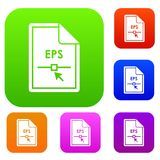 File EPS set collection. File EPS set icon in different colors isolated vector illustration. Premium collection Stock Images