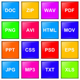 File extension icon series Royalty Free Stock Images