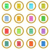 File extension icons circle Royalty Free Stock Photos