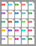 File extension - set color icon. Vector eps 10 Royalty Free Stock Images