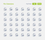 File Extensions - Granite Icons Stock Photography
