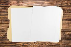 File. Open paper document letter organization blank Stock Images