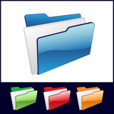 File folder. Icon with color options Royalty Free Stock Photography