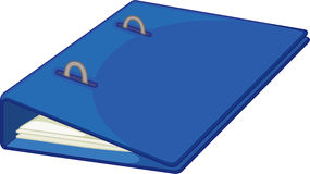 File folder. Illustration of blue file folder on white Stock Image