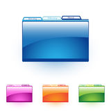 File folder. Vector illustration of a glossy file folder icon with color options Stock Photo