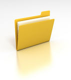 File Folder. 3D rendered desktop icon of a data file folder Royalty Free Stock Image