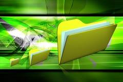 File folder. Digital illustration of 3d file folder in color background Royalty Free Stock Photo