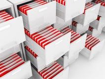 File folder. Detail of cabinet folder on white Royalty Free Stock Photo