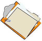 File folder on clipboard Royalty Free Stock Photos