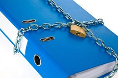 File folder closed with chain Royalty Free Stock Photography