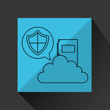 File folder cloud shield protection. Vector illustration eps 10 Royalty Free Stock Photo