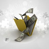 File folder with currency Stock Image