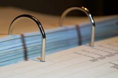 File folder on a desk royalty free stock image