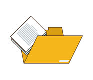 File folder and document icon. Flat design file folder and document  icon vector illustration Royalty Free Stock Photos