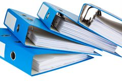 File folder with documents and documents. Storage contracts royalty free stock image