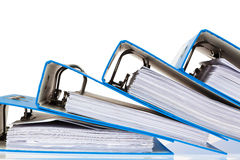 File folder with documents and documents Stock Images