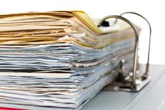 File folder with documents and documents Stock Photography
