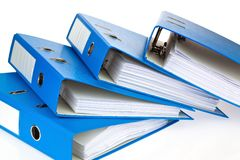File folder with documents and documents. Retention of contracts Royalty Free Stock Photo