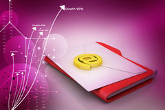 File folder with e-mail Stock Photo