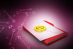 File folder with e-mail Royalty Free Stock Photography