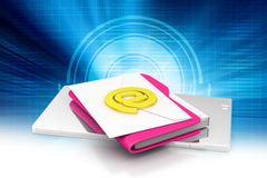 File folder with e-mail Stock Photography