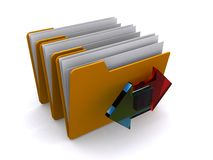 File folder exchange. An icon for file exchanges in folders Stock Photos