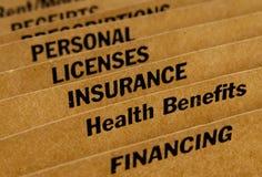 File folder for expenses Stock Image