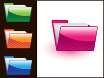 File folder icon Royalty Free Stock Photography