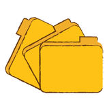 File folder icon image. Sketch style  illustration design Stock Photos