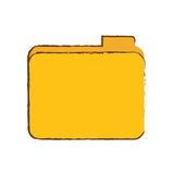 File folder icon image. Sketch style  illustration design Stock Image
