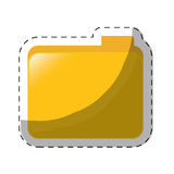File folder icon image. Sticker  illustration design Stock Images