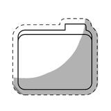 File folder icon image. Sticker  illustration design Stock Photography