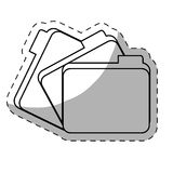 File folder icon image. Sticker  illustration design Royalty Free Stock Images