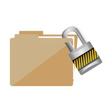 File folder icon image. Vector illustration design Royalty Free Stock Images