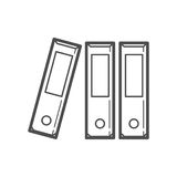 File folder icon. Outline file folder icon ,  illustration for web design etc Royalty Free Stock Photo
