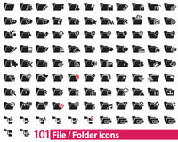 101 File and Folder Icons  illustrator. Available in jpeg and eps formats, to modify this file editing software such as Adobe Illustrator is required Royalty Free Stock Photography