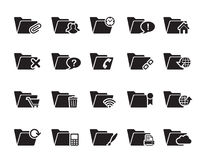 File Folder Icons Royalty Free Stock Image