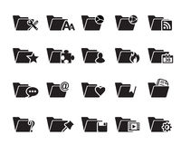 File Folder Icons. This image is a file n folder icons vector illustration and can be scaled to any size without loss of resolution. This image will download as Stock Photos