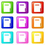 File folder icons 9 set Stock Images