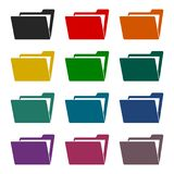 File, folder icons set. Vector icon Stock Image