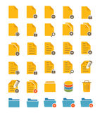 File and Folder Icons. A set of flat file and folder icons Royalty Free Stock Photography