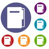 File folder icons set Royalty Free Stock Images