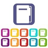 File folder icons set flat Stock Image