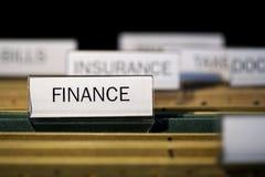 File folder labeled finance Royalty Free Stock Image