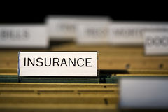 File folder labeled insurance Royalty Free Stock Photos