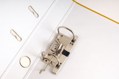 File folder lock. At the white Stock Photos