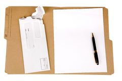 File folder and mail Stock Photography