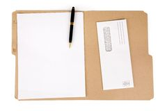 File folder and mail Stock Photos